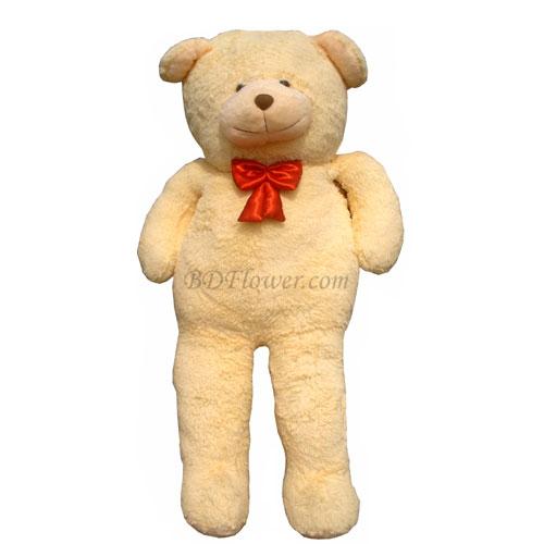 Send 6 feet off white teddy bear to Bangladesh