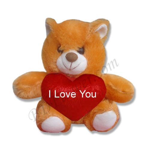 Send small brown i love you bear to Bangladesh