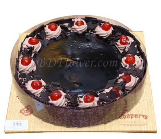 Send cherry chocolate cake to Bangladesh