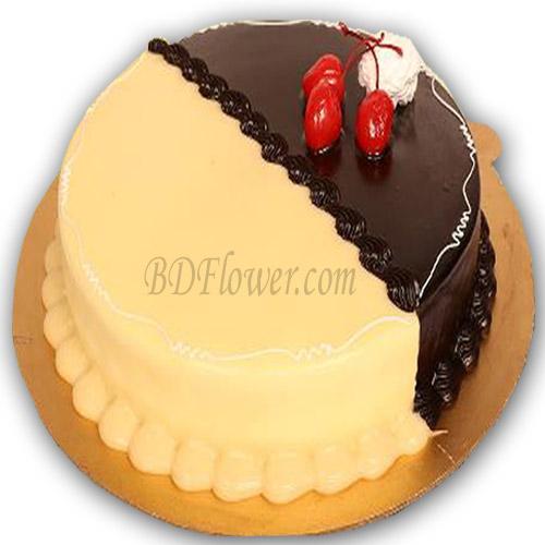 Send choco vanilla cake to Bangladesh