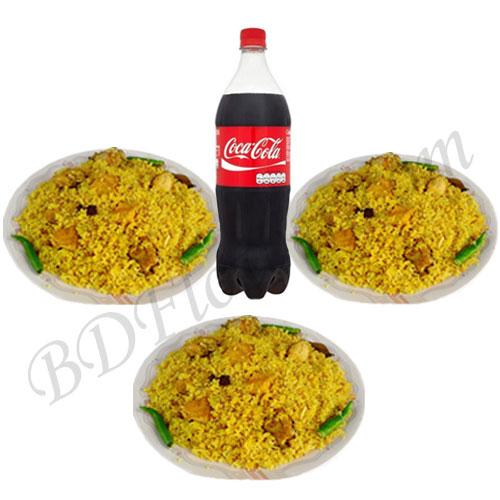 Send chicken khichuri with cocacola to Bangladesh