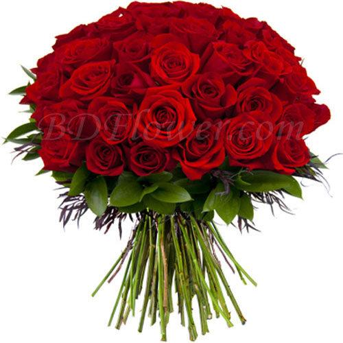 Send m60 pcs red roses in bouquet to Bangladesh