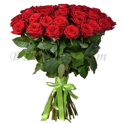 Send 40 pc red roses in bouquet to Bangladesh