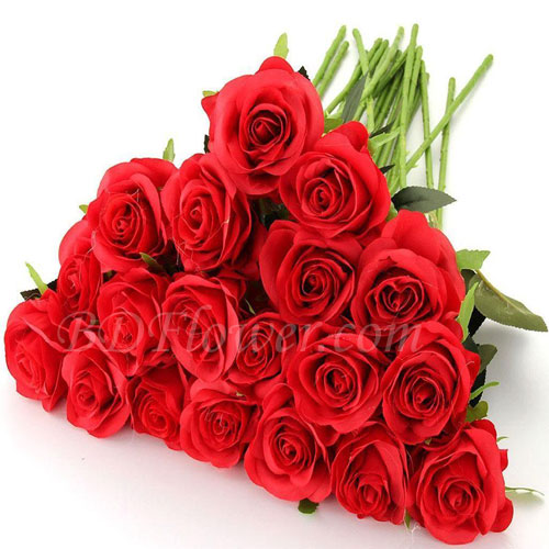 Send red roses in bouquet to Bangladesh