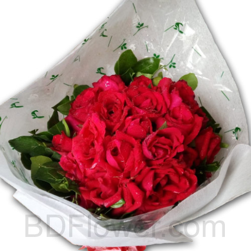 Send 12 pcs red roses to Bangladesh
